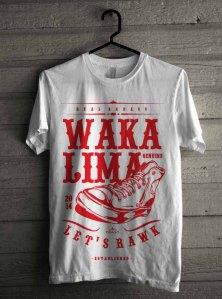 T Shirt Wakalima Putih Let's Rawk